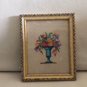 Vintage Framed Cross Stitch